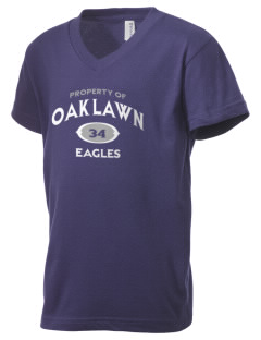 Oak Lawn Elementary School Eagles Kid's V-Neck Jersey T-Shirt