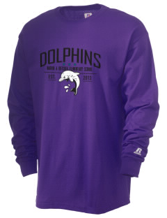 Marvin A Dutcher Elementary School Dolphins  Russell Men's Long Sleeve T-Shirt