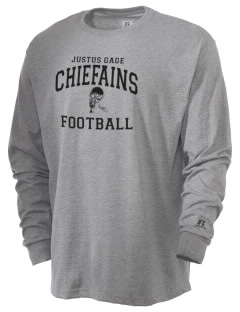 Justus Gage Elementary School Chiefains  Russell Men's Long Sleeve T-Shirt