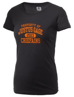 Justus Gage Elementary School Chiefains  Russell Women's Campus T-Shirt