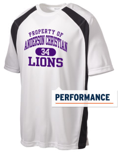Anderson Christian School Lions Men's Dry Zone Colorblock T-Shirt