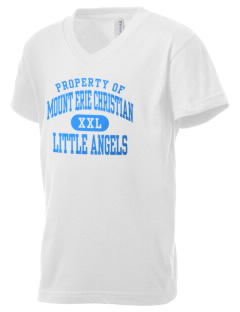 Mount Erie Christian Academy Little Angels Kid's V-Neck Jersey T-Shirt