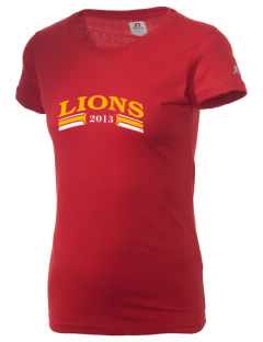 Liberty Alternative Education Center Lions  Russell Women's Campus T-Shirt