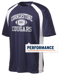Cornerstone School Cougars Men's Dry Zone Colorblock T-Shirt
