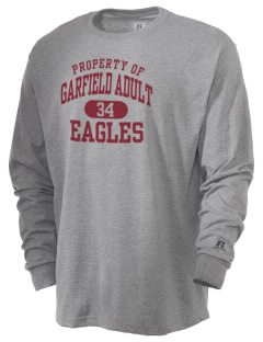 Garfield Adult Center Eagles  Russell Men's Long Sleeve T-Shirt