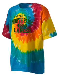 North Park Middle School Lancer Kid's Tie-Dye T-Shirt