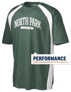 North Park Middle School Lancer Men's Dry Zone Colorblock T-Shirt