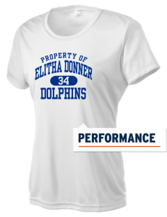 Elitha Donner Elementary School Dolphins Women's Competitor Performance T-Shirt