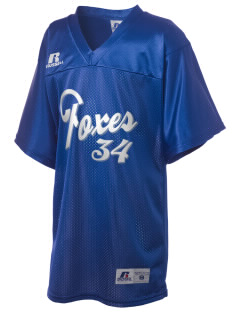 Folsom Hills Elementary School Foxes Russell Kid's Replica Football Jersey
