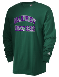 Grandview Elementary School Grizzly Bears  Russell Men's Long Sleeve T-Shirt