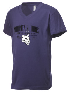 Mountain Lake High School Mountain Lions Kid's V-Neck Jersey T-Shirt