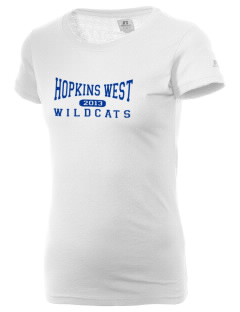Hopkins West Junior High School Wildcats  Russell Women's Campus T-Shirt