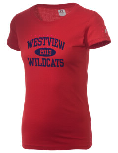 Westview High School Wildcats  Russell Women's Campus T-Shirt