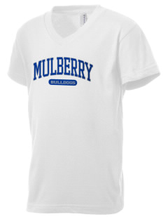 Mulberry Elementary School Bulldogs Kid's V-Neck Jersey T-Shirt
