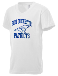 Fort Dorchester High School Patriots Kid's V-Neck Jersey T-Shirt