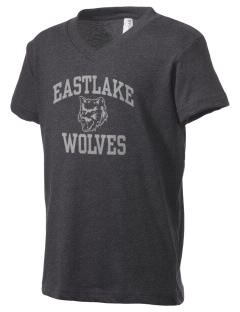 Eastlake High School Wolves Kid's V-Neck Jersey T-Shirt