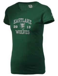 Eastlake High School Wolves  Russell Women's Campus T-Shirt