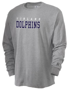 Vinland Elementary School Dolphins  Russell Men's Long Sleeve T-Shirt