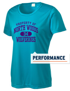 North Woods Elementary School Wolverines Women's Competitor Performance T-Shirt