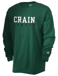 Crain Middle School Comets  Russell Men's Long Sleeve T-Shirt