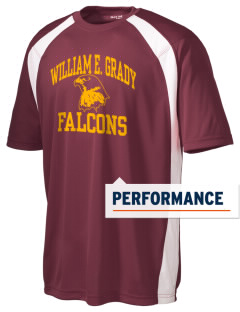 William Grady Vocational Technical High FALCONS Men's Dry Zone Colorblock T-Shirt