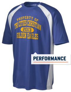 Tri Cities Christian School Golden Eagles Men's Dry Zone Colorblock T-Shirt