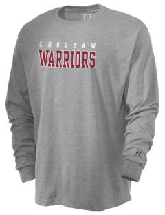 Choctaw Middle School Warriors  Russell Men's Long Sleeve T-Shirt
