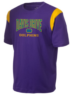 Davis Drive Elementary School Dolphins Holloway Men's Rush T-Shirt