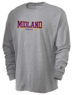 Midland Community Middle School Bobcats  Russell Men's Long Sleeve T-Shirt
