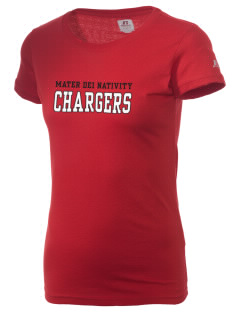 Mater Dei School Nativity School Chargers  Russell Women's Campus T-Shirt