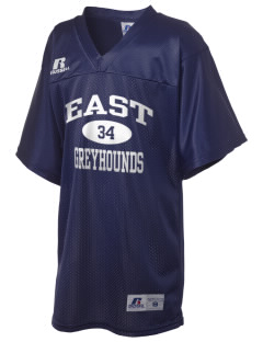 East Elementary School Greyhounds Russell Kid's Replica Football Jersey