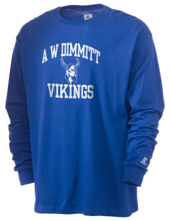 A W Dimmitt Middle School Vikings  Russell Men's Long Sleeve T-Shirt