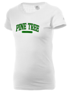 Pine Tree Elementary School Falcons  Russell Women's Campus T-Shirt