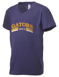 Hunters Creek Elementary School Gators Kid's V-Neck Jersey T-Shirt