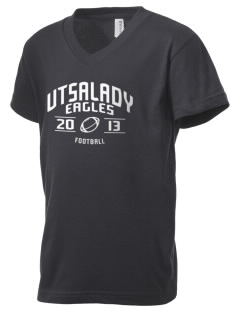 Utsalady Elementary School Eagles Kid's V-Neck Jersey T-Shirt