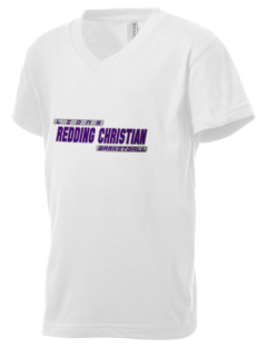 Redding Christian School Lions Kid's V-Neck Jersey T-Shirt
