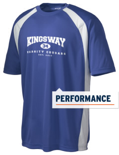 Kingsway Elementary School Cougars Men's Dry Zone Colorblock T-Shirt