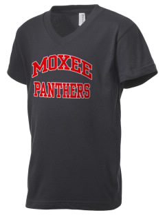 Moxee Elementary School Panthers Kid's V-Neck Jersey T-Shirt