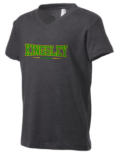 Kingsley Elementary School Lions Kid's V-Neck Jersey T-Shirt