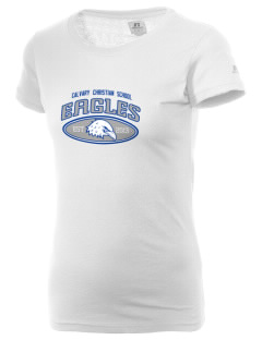 Calvary Christian School Eagles  Russell Women's Campus T-Shirt