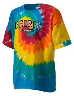 George Community School Mustangs Kid's Tie-Dye T-Shirt