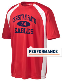 Christian Faith School Eagles Men's Dry Zone Colorblock T-Shirt