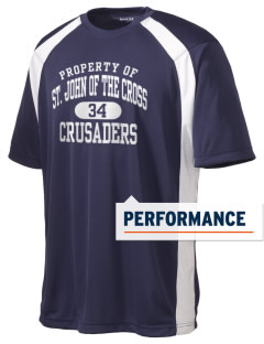 Saint John Of The Cross School Crusaders Men's Dry Zone Colorblock T-Shirt