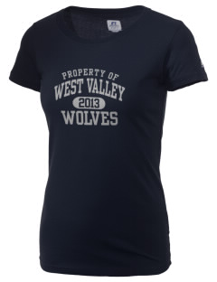 West Valley Middle School Wolves  Russell Women's Campus T-Shirt