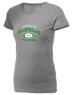 Granite Oaks Middle School Falcons  Russell Women's Campus T-Shirt