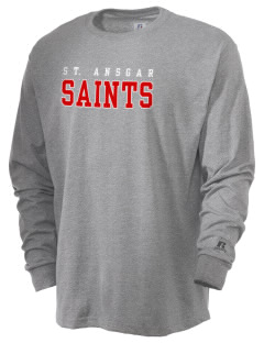 Saint Ansgar Middle School Saints  Russell Men's Long Sleeve T-Shirt