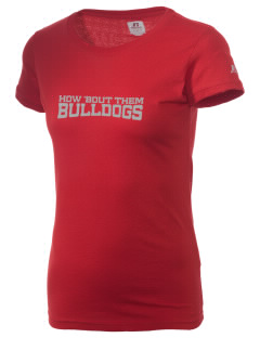 Highland Park Intermediate School Bulldogs  Russell Women's Campus T-Shirt