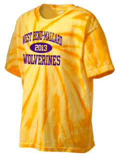 West Bend-Mallard High School Wolverines Kid's Tie-Dye T-Shirt