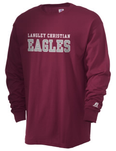Langley Christian School Eagles  Russell Men's Long Sleeve T-Shirt