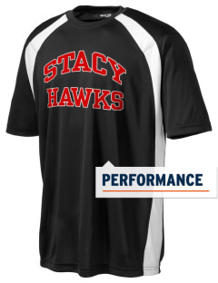 Stacy Middle School Hawks Men's Dry Zone Colorblock T-Shirt